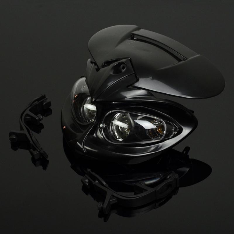 6000K Universal Motorcycle Motocross Headlight Fairing Light Dual Street Fighter